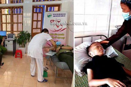 Công an thị xã Nghĩa Lộ: Một ngày hai lần hiến máu cứu bệnh nhân thiếu máu huyết tán bẩm sinh